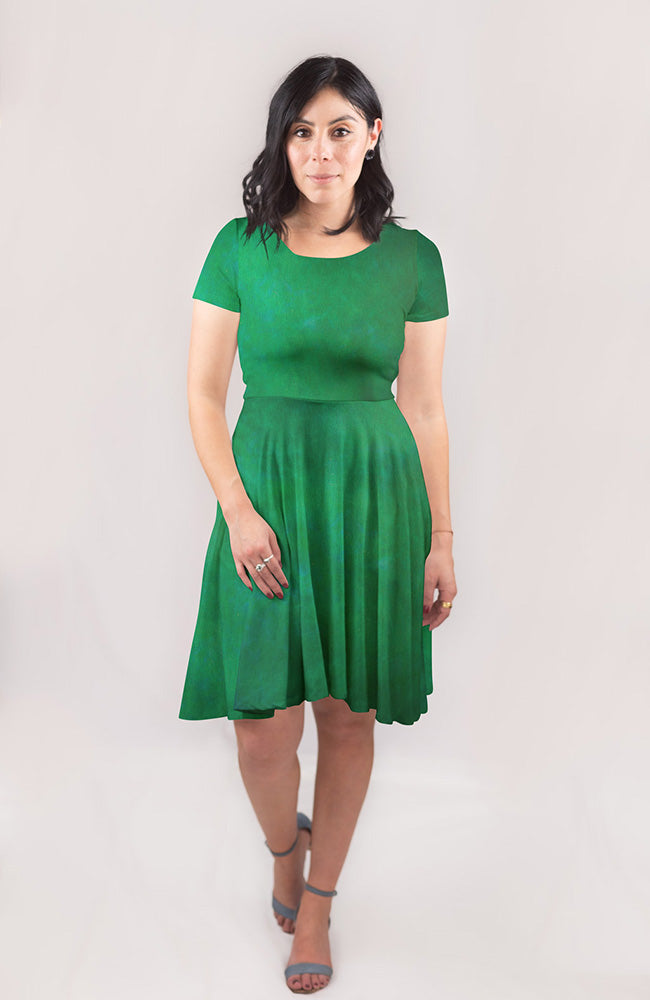 Dyed Dress in Pine