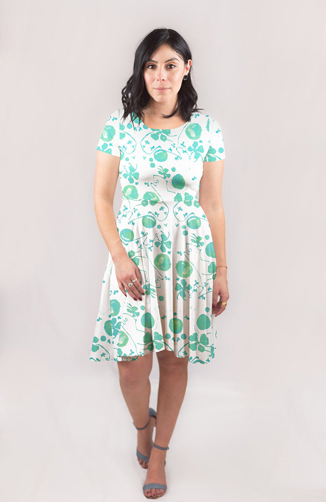 Blooming Vine Dress in Mint
