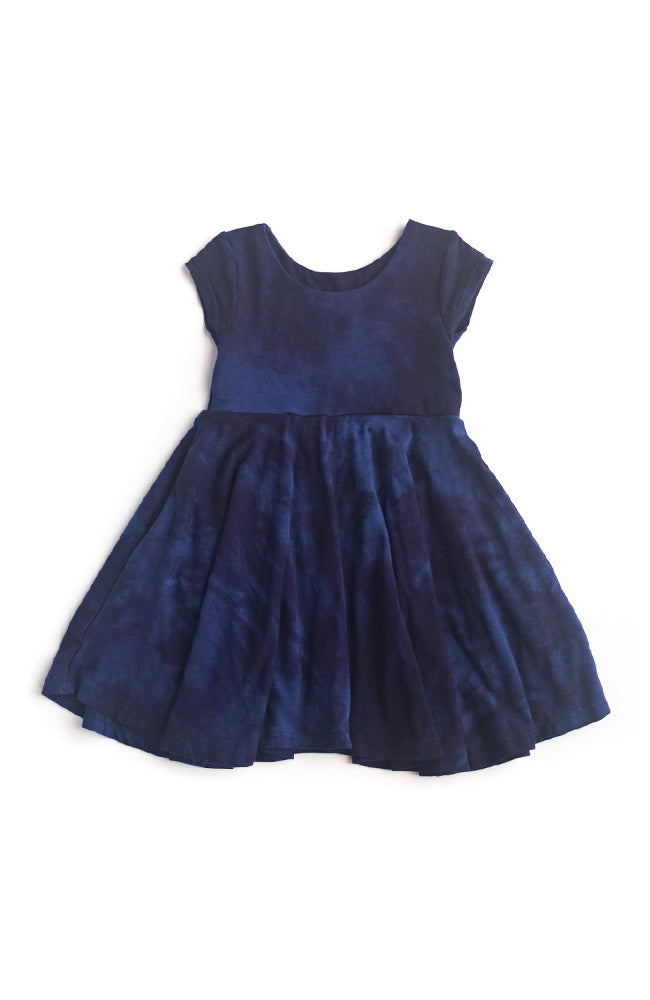 Twirl Kids Dress in Deep Night