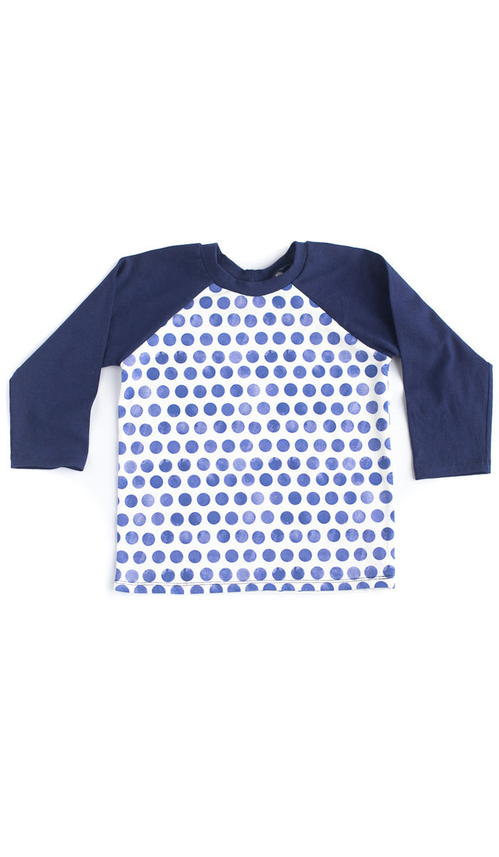 Tiny Polka Dot Raglan Tee