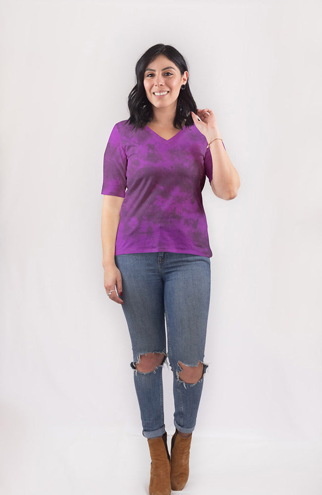 Tee in Black Plum