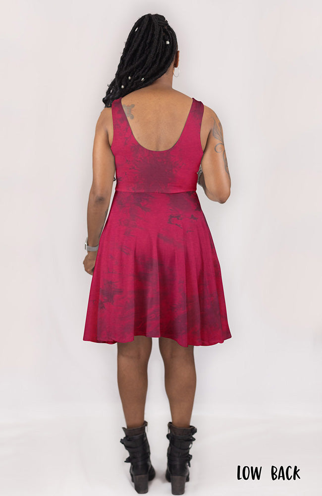 Dyed Dress in Pomegranate