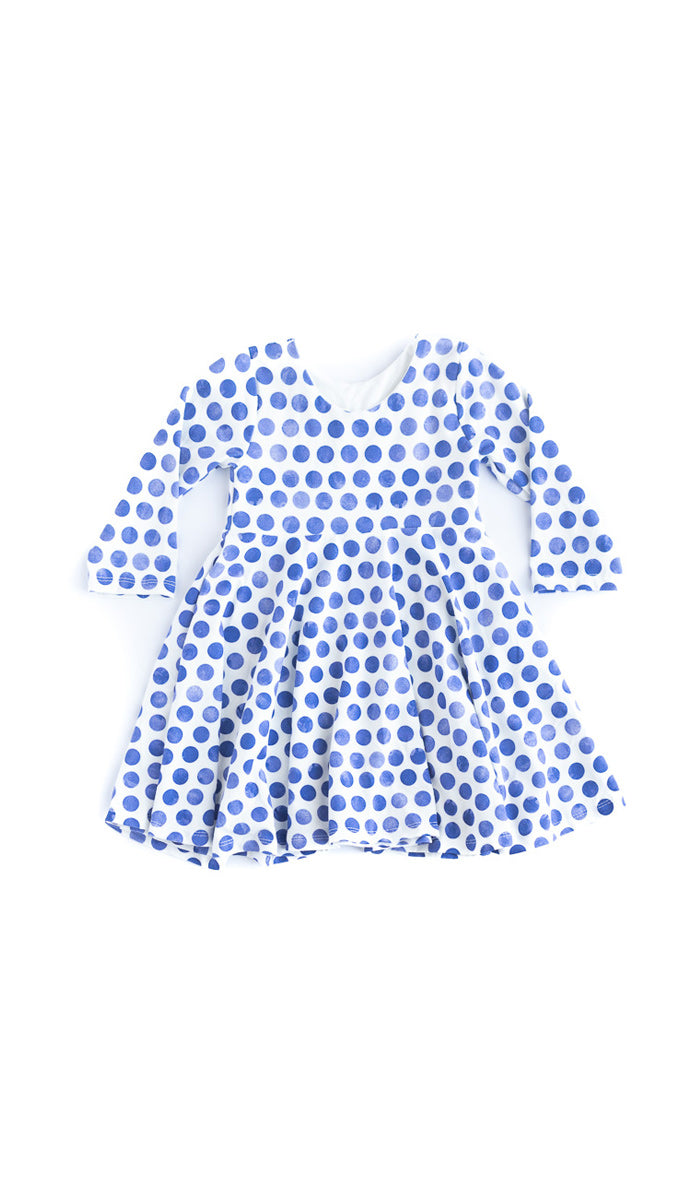 Tiny Polka Dot Twirl Kids Dress - Ready to Ship