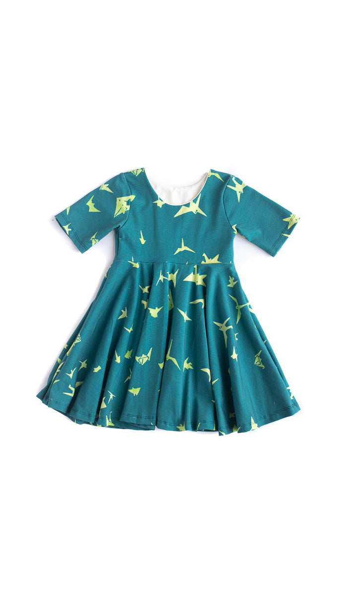 Paper Cranes Twirl Dress- Ready to Ship