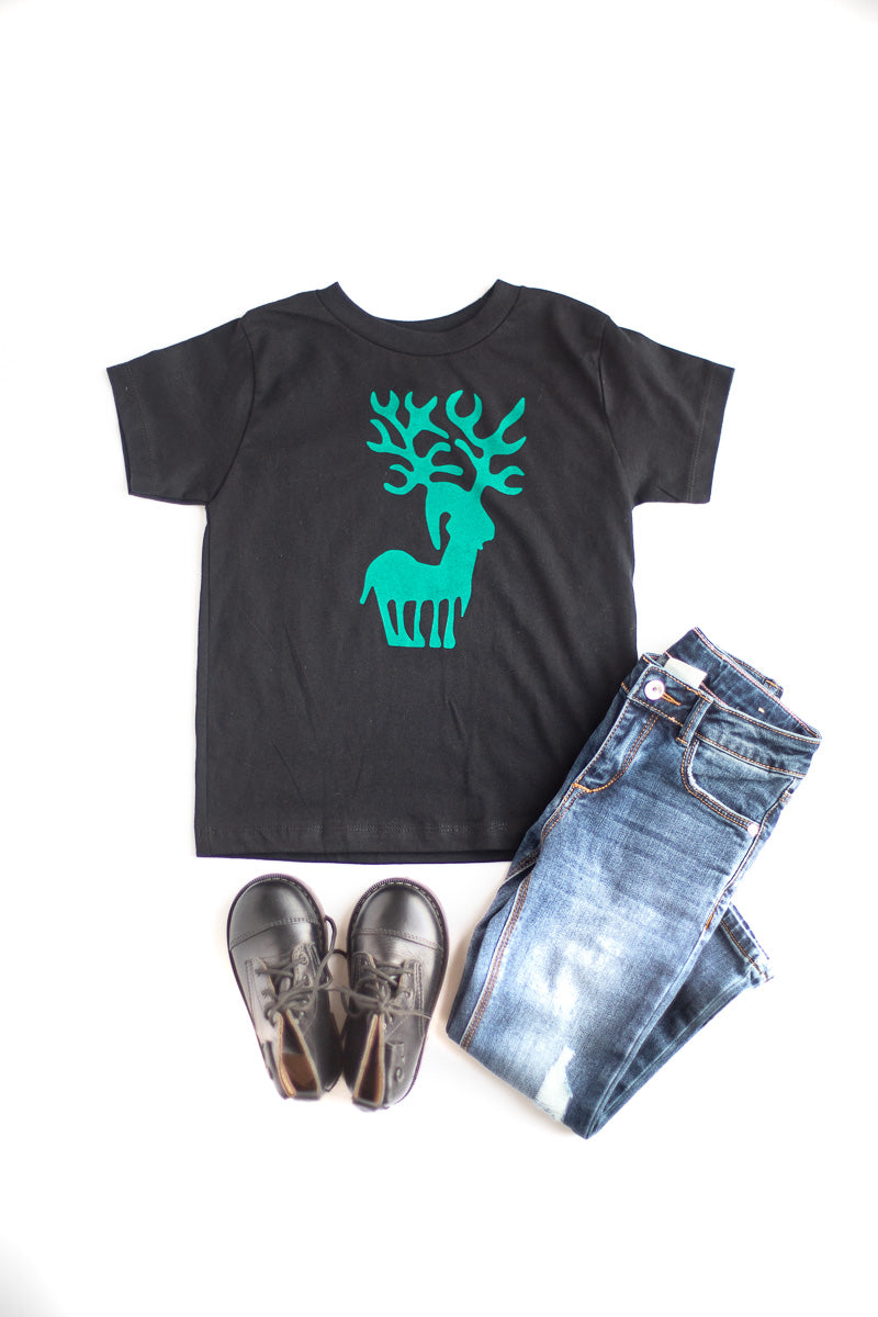 Silly Reindeer Kids Tee