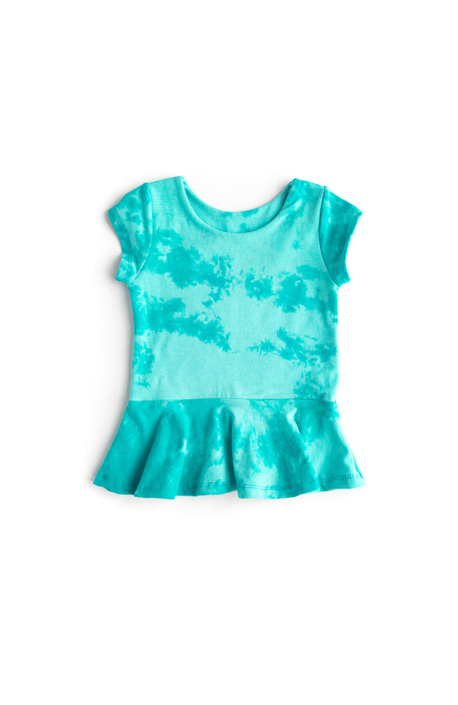 Minty Blue Peplum Top