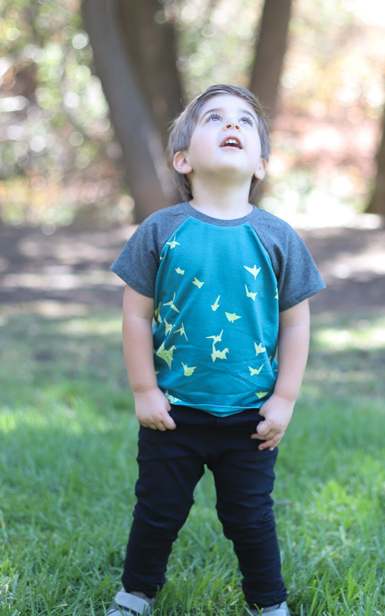 Paper Cranes Raglan Tee- Ready to Ship