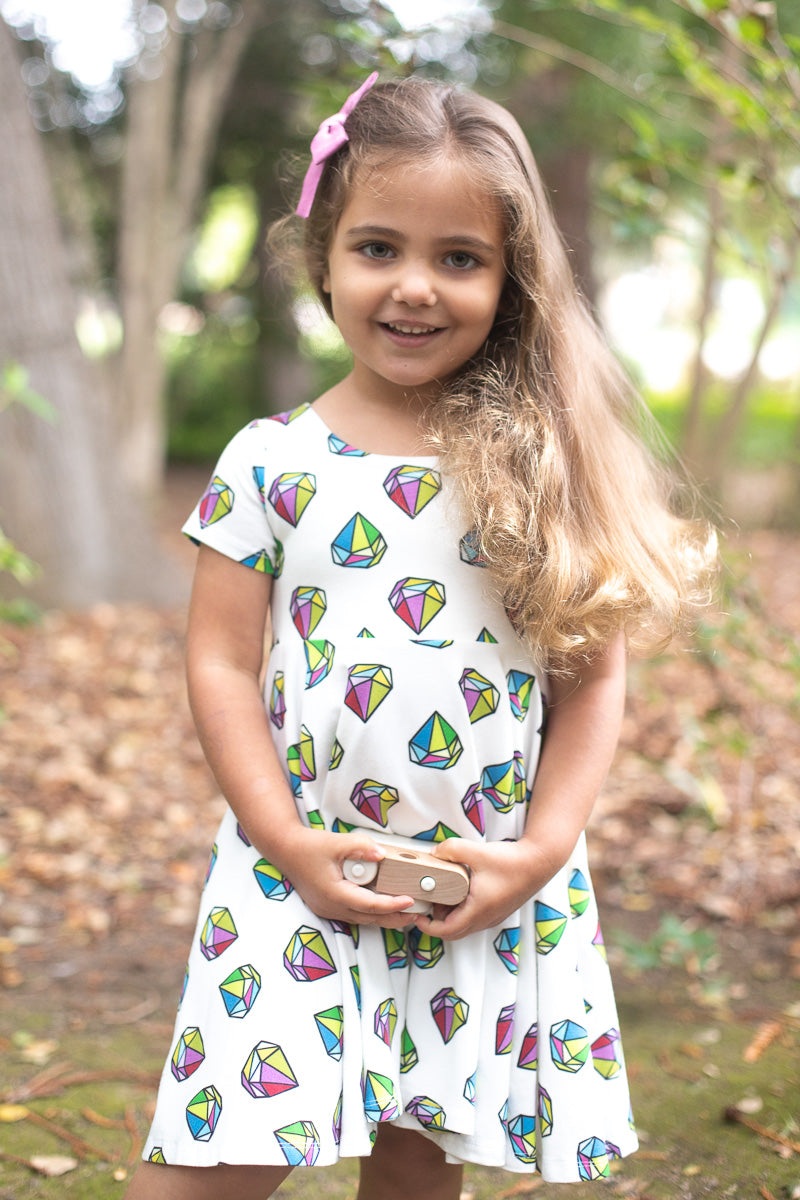 Gem Twirl Kids Dress- Ready to Ship
