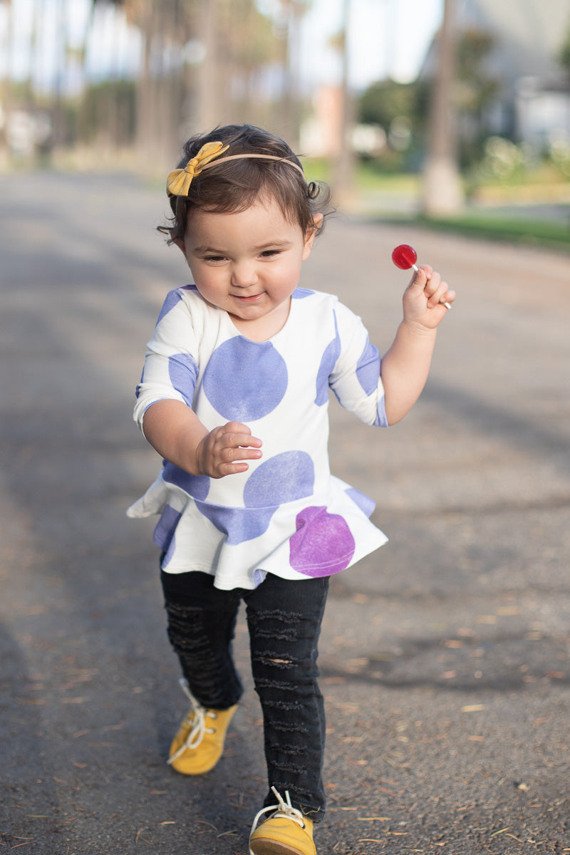 Giant Polka Dot Peplum Top