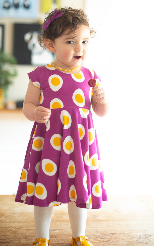Egg Twirl Kids Dress - Ready to Ship