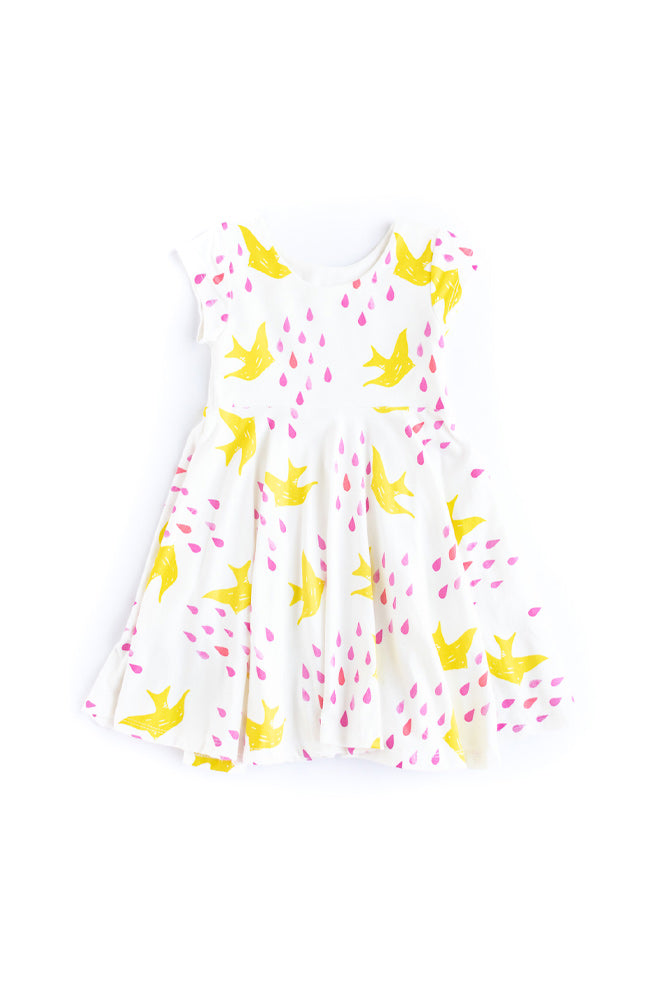 Rain Birds Twirl Dress