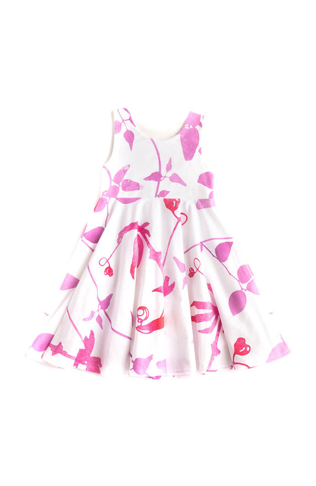 Pink Floral Twirl Dress