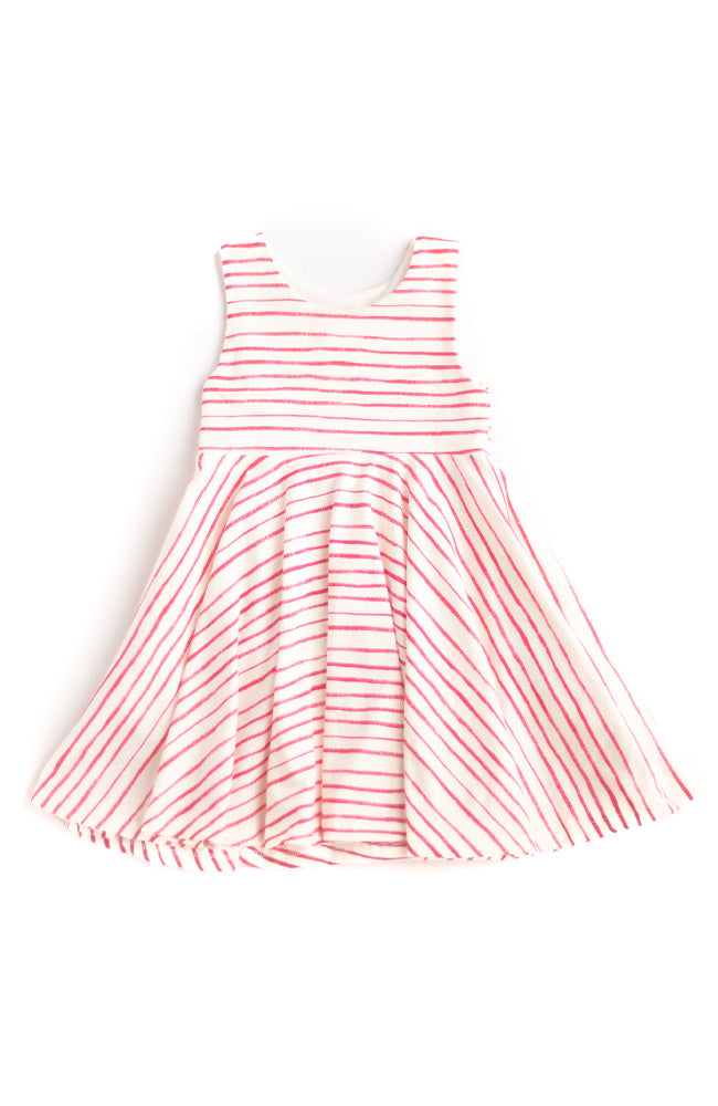 Thin Stripe Twirl Dress