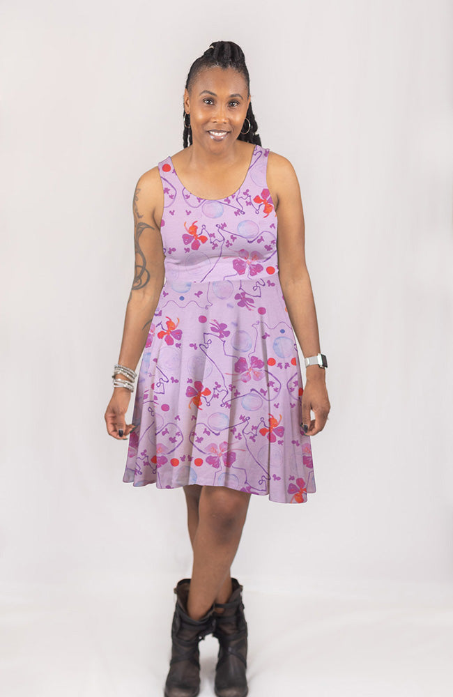Blooming Vine Dress in Lavender