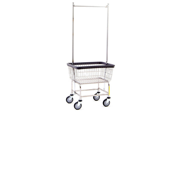 Coin Op Rack Cart Chrome Double Pole