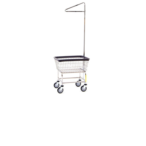 Coin Op Rack Cart Chrome Single Pole