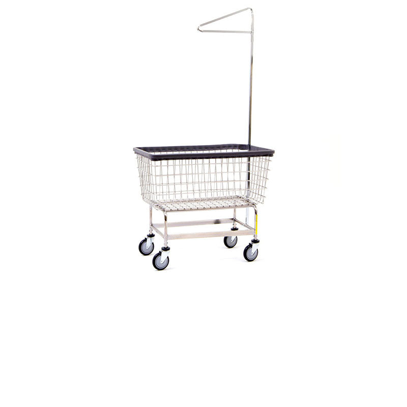 6 BUSHEL LAUNDRY CART W/ SINGLE POLE