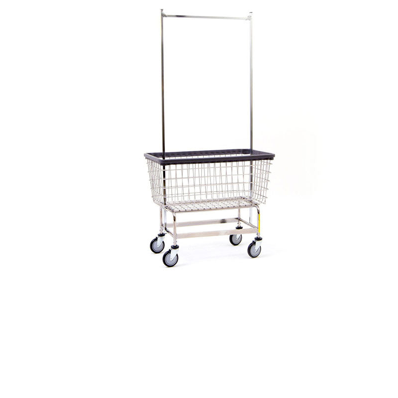 6 BUSHEL LAUNDRY CART W/ DOUBLE POLE