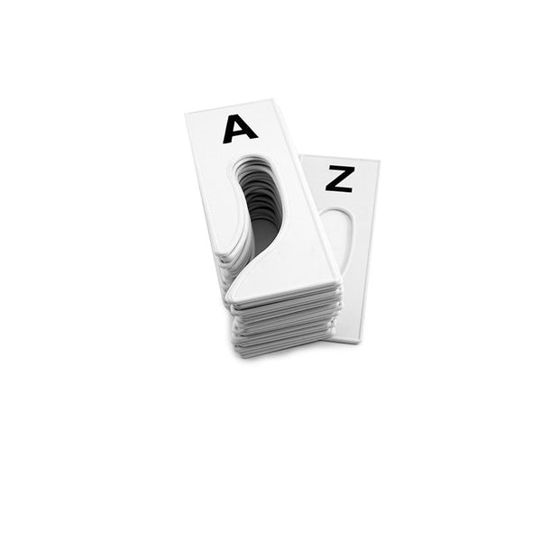 Rectangular rack Dividers A to Z