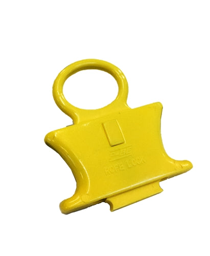 SPRING LOADED ROPE LOCK - YELLOW