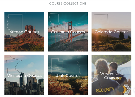 Defencify's online security guard course collection
