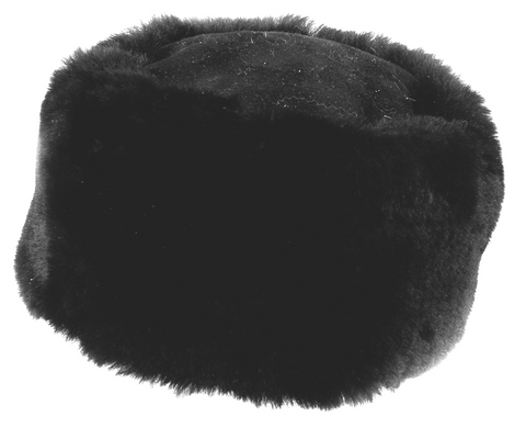 Black Short Wool Cossack Hat