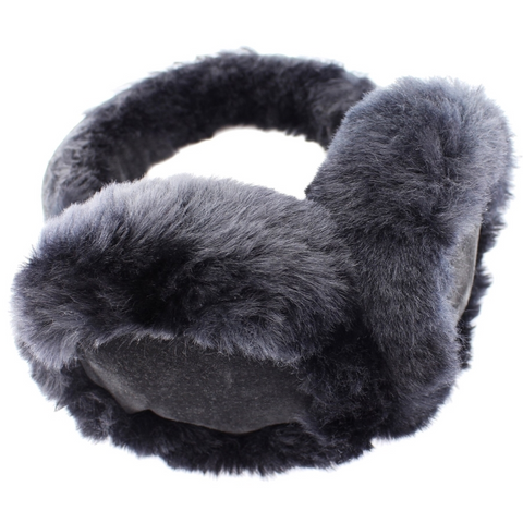Black Sheepskin Earmuffs