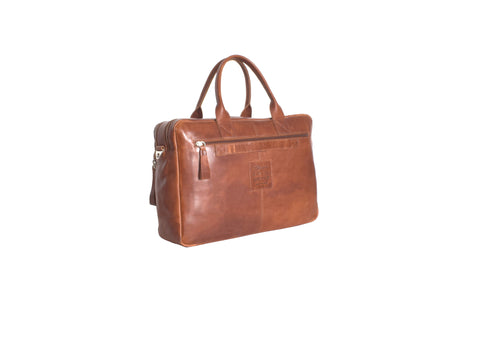 Tan Leather Work Bag