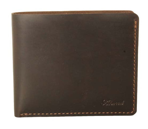 Brown Eight Card Leather Wallet