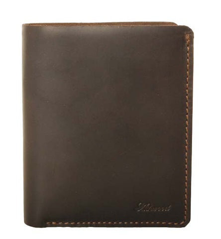 Brown Large Bill-Fold Leather Wallet