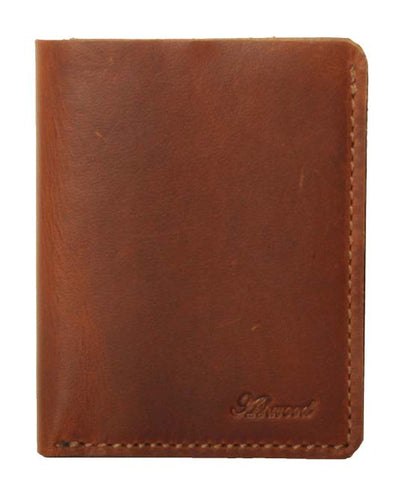 Chestnut Large Bill-Fold Leather Wallet