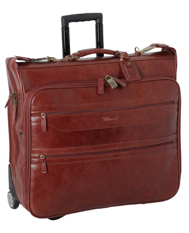 Cognac Wheeled Suit Carrier