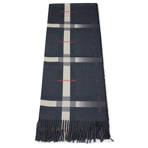 Grey Check Scarf- House of Hide UK Ltd