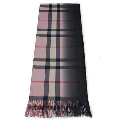 Pink Check Scarf- House of Hide UK Ltd