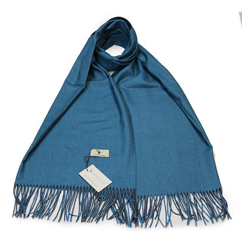 Blue Contrast Scarf