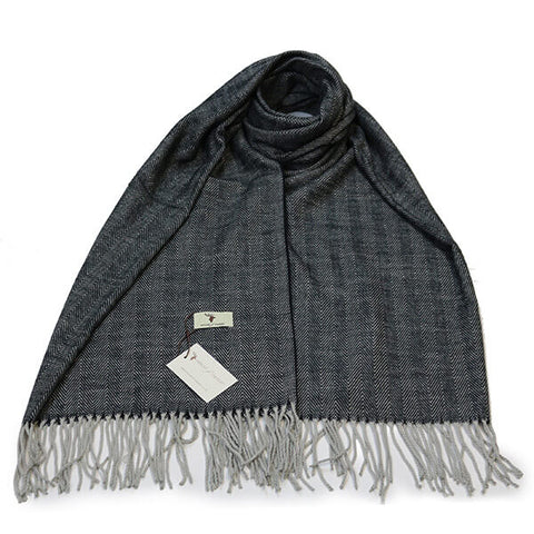Grey Herringbone Scarf