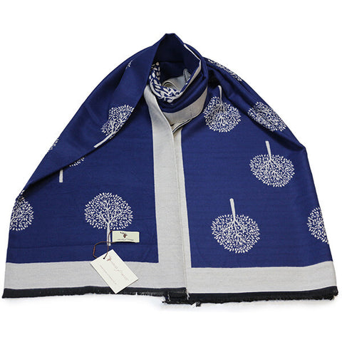 Blue Tree of Life Scarf