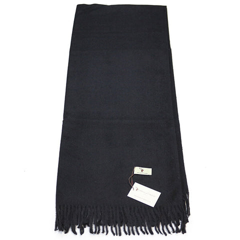 Black Cashmere Feel Scarf- House of Hide UK Ltd