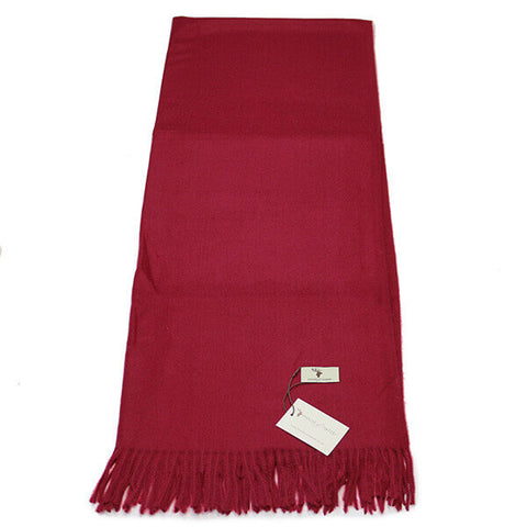 Burgundy Cashmere Feel Scarf- House of Hide UK Ltd