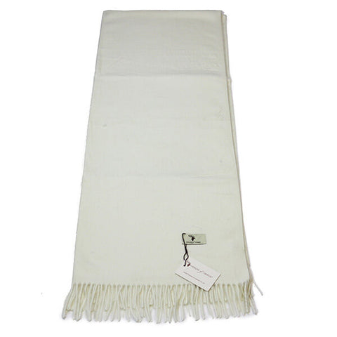 Cream Cashmere Feel Scarf- House of Hide UK Ltd