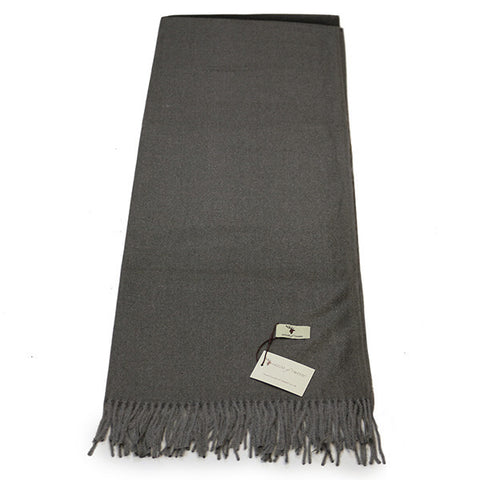 Grey Cashmere Feel Scarf- House of Hide UK Ltd