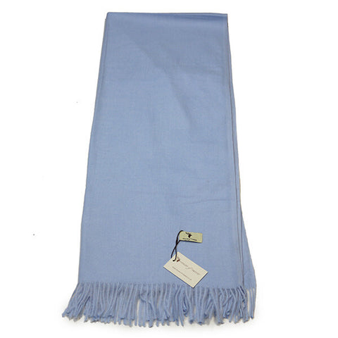 Light Blue Cashmere Feel Scarf- House of Hide UK Ltd