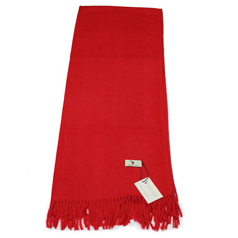 Red Cashmere Feel Scarf- House of Hide UK Ltd