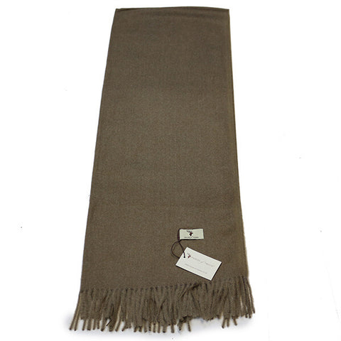 Sand Cashmere Feel Scarf- House of Hide UK Ltd