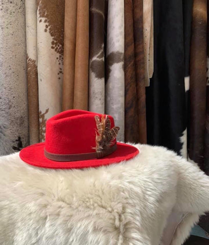 Candy Red Fedora