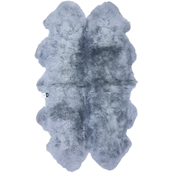 Light Grey Quad Sheepskin Rug