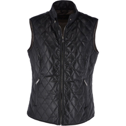Black Diamond Quilted Leather Gilet
