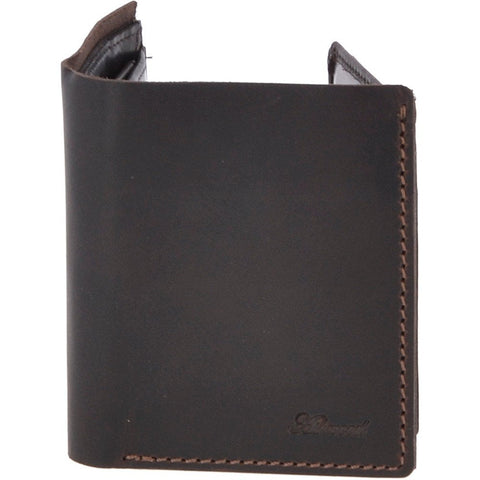 Brown Three Card Leather Wallet