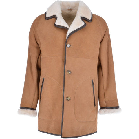 Biscuit Sheepskin Coat