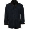 Dark Blue Sheepskin Coat